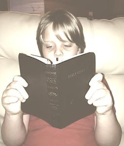 My Son Reading The Bible